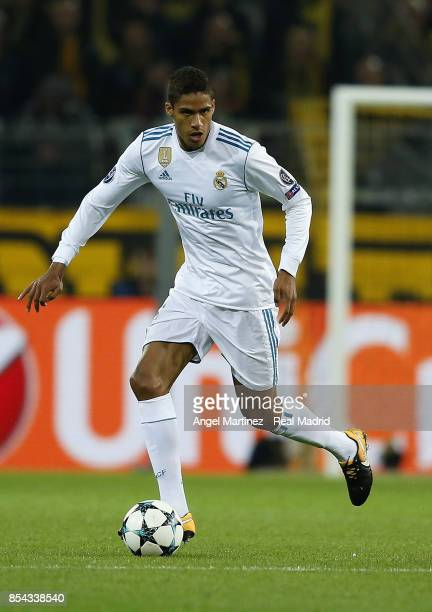 Raphael Varane of Real Madrid in action during the UEFA Champions League group H match between Borussia Dortmund and Real Madrid at Signal Iduna Park...