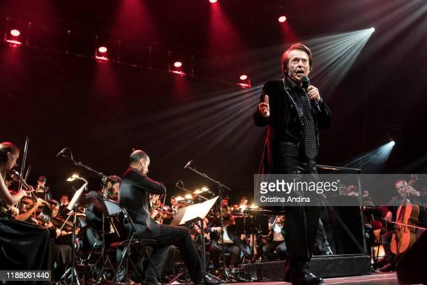 Raphael with Gaos orchestra performs on stage at Coliseum A Coruña on November 16 2019 in A Coruna Spain