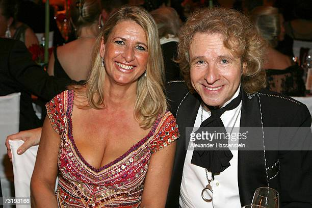 Raphaela Ackermann and her brother Thomas Gottschalk attends the 2007 Sports Gala Ball des Sports at the RheinMain Hall on February 3 2007 in...