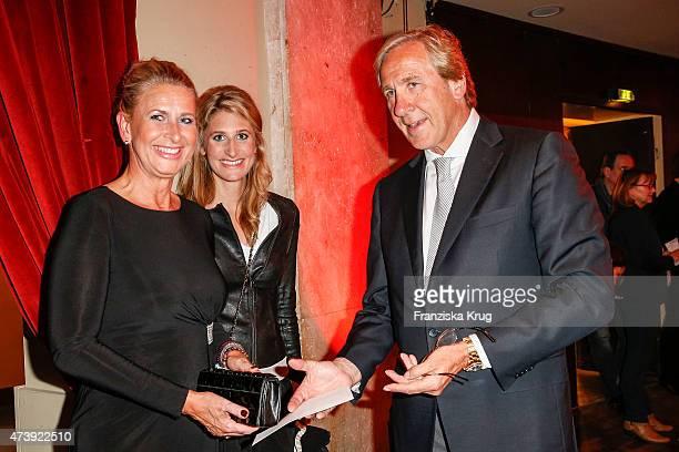 Raphaela Gottschalk, her daughter Julia Gottschalk and her brother Christoph Gottschalk attend 'Herbstblond - Gottschalks grosse Geburtstagsparty' TV...