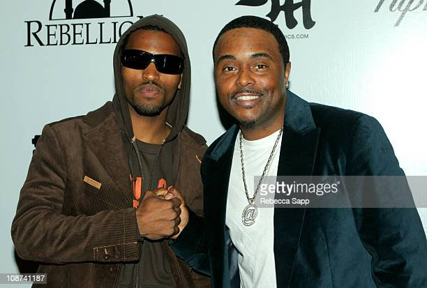 Raphel Young and Alex Thomas during 2005 VIBE Awards Party at Basque at Basque in Los Angeles California United States
