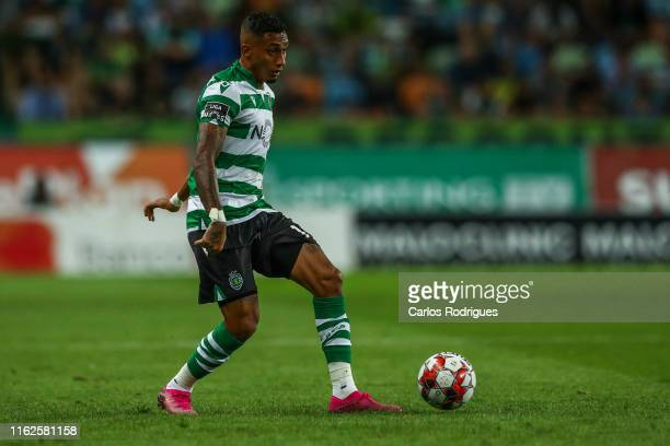 Raphinha of Sporting CP during the Liga Nos round 2 match between Sporting CP and SC Braga at Estadio Jose Alvalade on August 18, 2019 in Lisbon,...