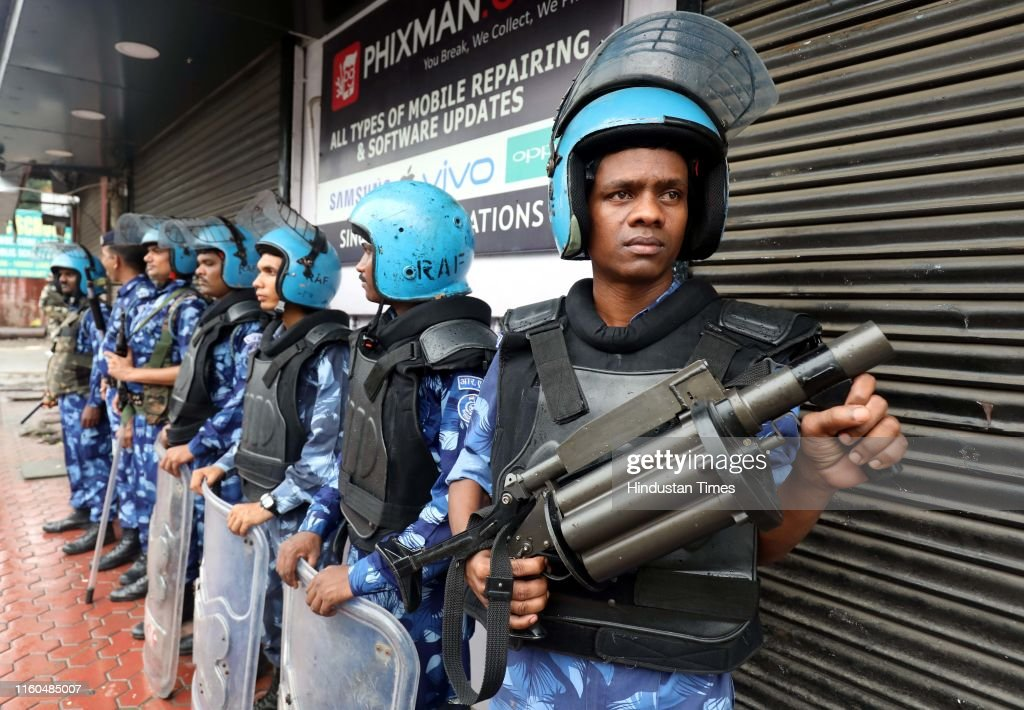 Restriction In Jammu As Precautionary Measures After Revocation Of Article 370 : News Photo