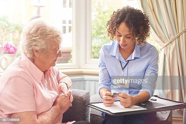 rapid response pendant for senior woman