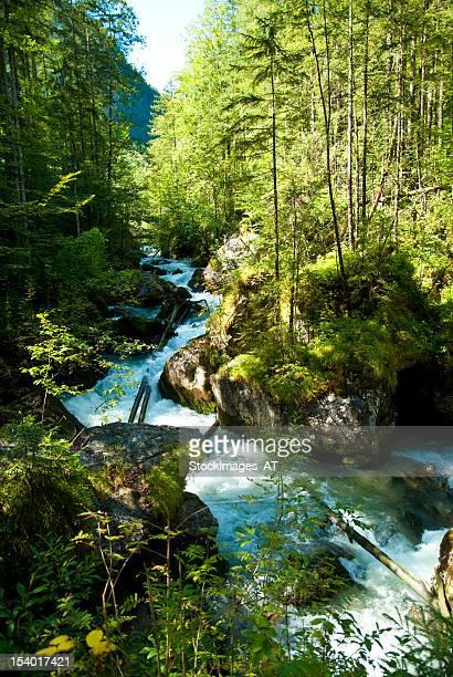 rápida al río - hallstatt fotografías e imágenes de stock