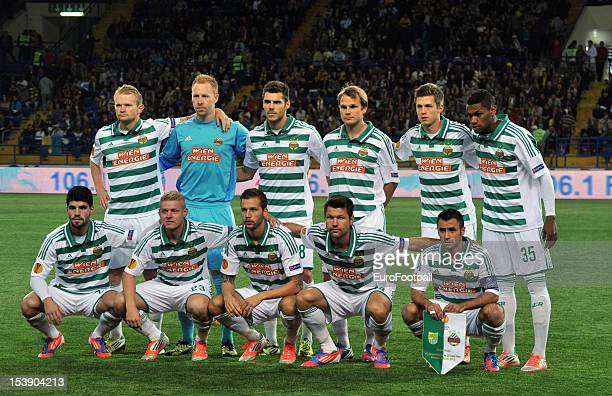 Rapid Wien team group taken prior to the UEFA Europa League group stage match between FC Metalist Kharkiv and SK Rapid Wien held on October 4 2012 at...