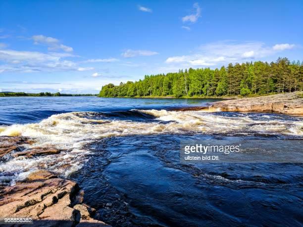 Rapids in the Torne river near Juoksengi
