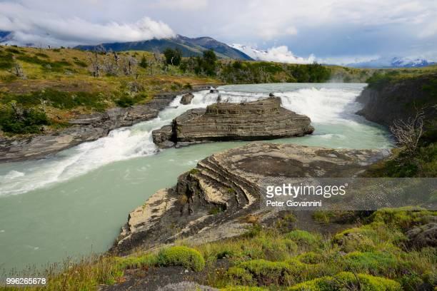 Rapids on Rio Paine, Torres del Paine National Park, Ultima Esperanza Province, Chile