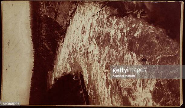 Rapids run through Niagara gorge after the falls Niagara Falls New York ca 1880s1890s