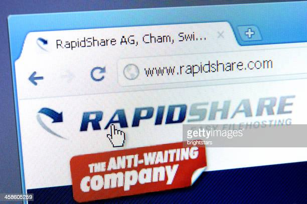 Rapidshare webpage on the browser