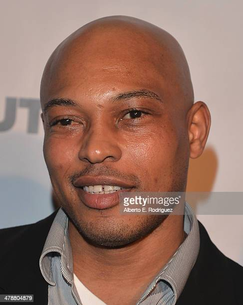 """Rappaer/actor Kiirk """"Sticky Fingaz"""" Jones arrives to the Outfest Fusion LGBT People of Color Film Fetival Opening Night Screening of """"Blackbird"""" at..."""