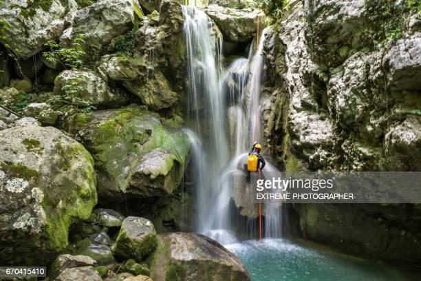 Abseilen am Wasserfall