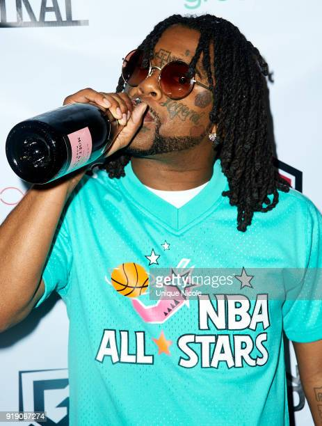 Rapper 03 Greedo attends the Trap House Clothing Laced South Bay Presents TRAP ALL STAR FEST at The Belasco Theater on February 15 2018 in Los...