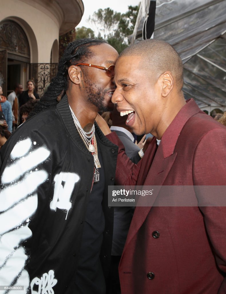 Rapper 2 Chainz and Jay-Z attend 2017 Roc Nation Pre-Grammy Brunch at Owlwood Estate on February 11, 2017 in Los Angeles, California.