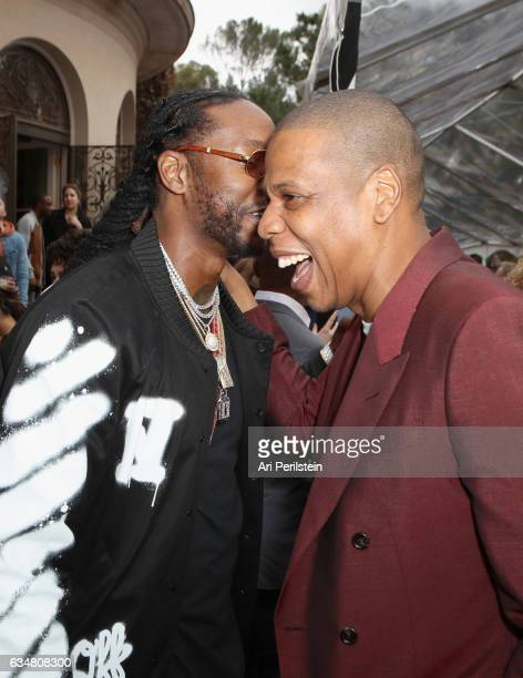 Rapper 2 Chainz and JayZ attend 2017 Roc Nation PreGrammy Brunch at Owlwood Estate on February 11 2017 in Los Angeles California