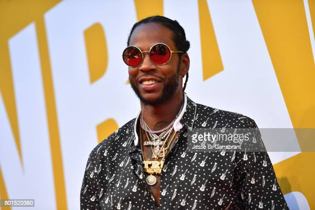 Rapper 2 Chainz arrives on the red carpet during the 2017 NBA Awards Show on June 26 2017 at Basketball City in New York City NOTE TO USER User...