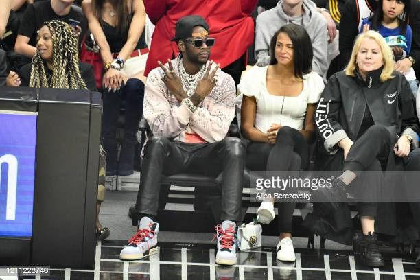 Rapper 2 Chainz attends a basketball game between the Los Angeles Clippers and the Los Angeles Lakers at Staples Center on March 08 2020 in Los...