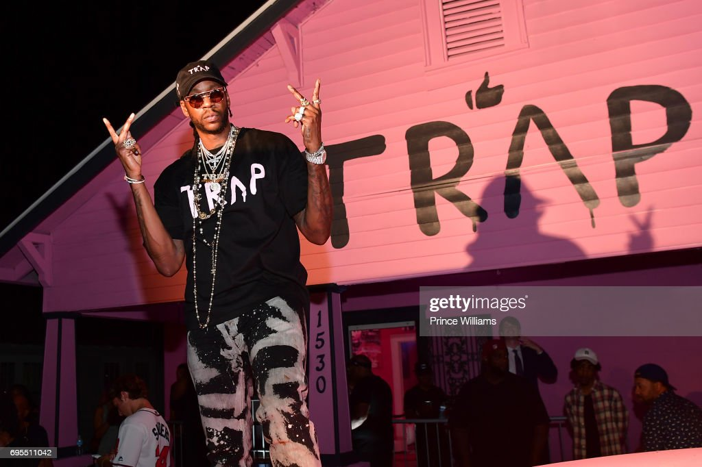 Rapper 2 Chainz attends His Private Listening Party at The Pink Trap House on June 12, 2017 in Atlanta, Georgia.