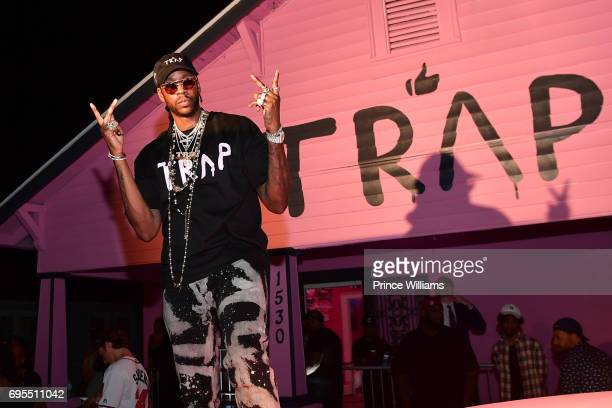 Rapper 2 Chainz attends His Private Listening Party at The Pink Trap House on June 12 2017 in Atlanta Georgia