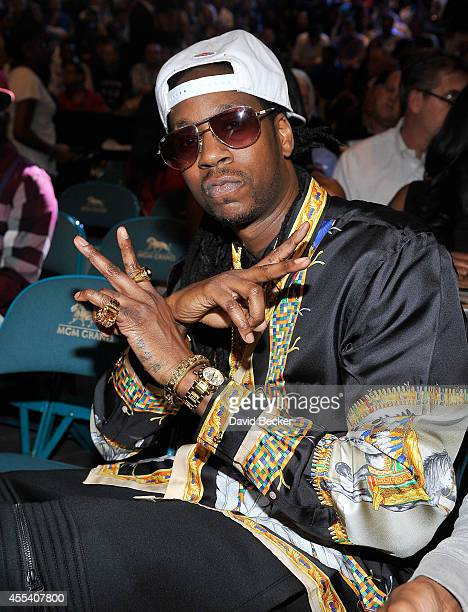 Rapper 2 Chainz attends Showtime's Mayhem Mayweather vs Maidana 2 at the MGM Grand Garden Arena on September 13 2014 in Las Vegas Nevada