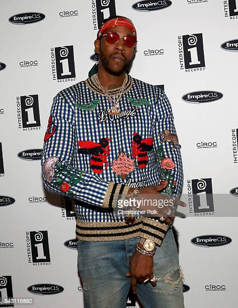 Rapper 2 Chainz attends the Interscope BET Party at The Reserve on June 25 2016 in Los Angeles California