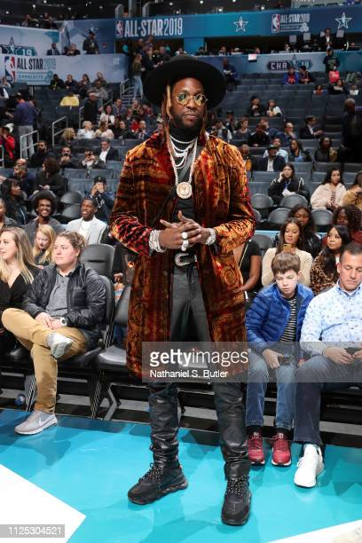 Rapper 2 Chainz is seen during the 2019 Taco Bell Skills Challenge as part of the State Farm AllStar Saturday Night on February 16 2019 at the...