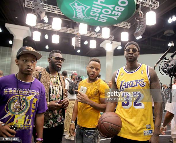 Rapper 2 Chainz participates in the Sprite celebrity basketball game during the 2015 BET Experience at the Los Angeles Convention Center on June 27...