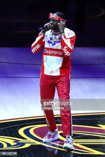 Rapper 2 Chainz performs during Game Four of the 2018 NBA Eastern Conference Finals between the Cleveland Cavaliers and the Boston Celtics at Quicken...