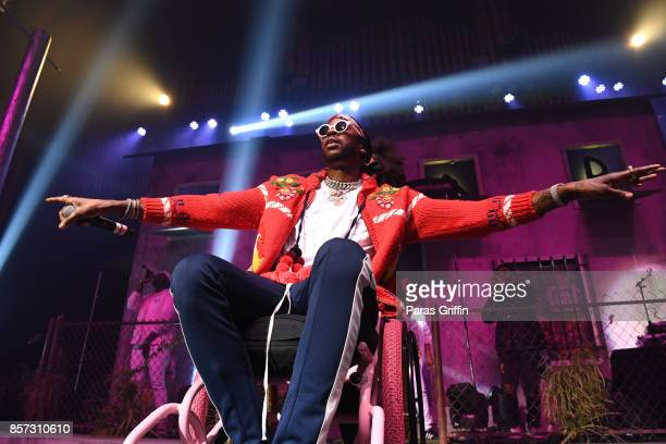 Rapper 2 Chainz performs in concert during 'Pretty Girls Like Trap Music' tour at The Tabernacle on October 3 2017 in Atlanta Georgia