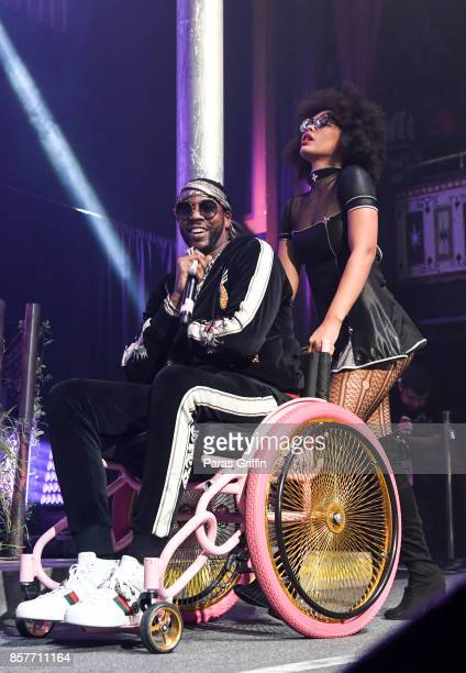 Rapper 2 Chainz performs onstage at The Tabernacle on October 4 2017 in Atlanta Georgia