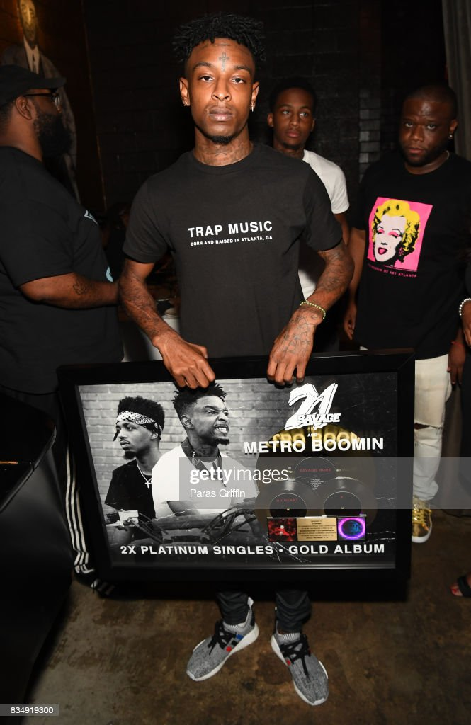 Rapper 21 Savage at ASCAP x Avion Tequila presents The Dinner for 21 Savage at KR Steakhouse on August 17, 2017 in Atlanta, Georgia.