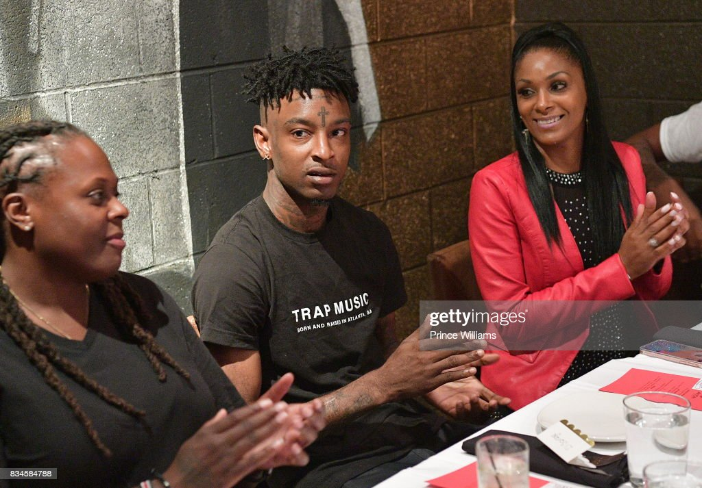 Rapper 21 Savage attends an Ascap Dinner at KR Steakhouse on August 17, 2017 in Atlanta, Georgia.