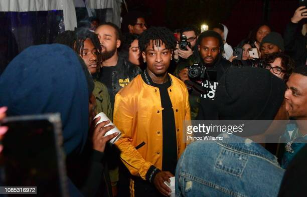 Rapper 21 Savage attends Motel 21 ' I Am > I Was' Private Listening Experience on December 21 2018 in Atlanta Georgia