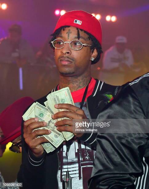Rapper 21 Savage attends the 2nd annual No Cap Tuesday at Gold Room on January 16 2019 in Atlanta Georgia