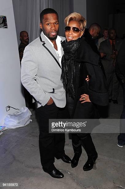 Rapper 50 Cent and singer Mary J Blige attend the launch of VEVO the world's premiere destination for premium music video and entertainment at...