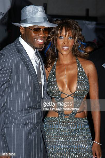 Rapper 50 Cent and Vivica A Fox arrive at Radio City Music Hall for the 2003 MTV Video Music Awards He took home the Best Rap Video award for 'In Da...
