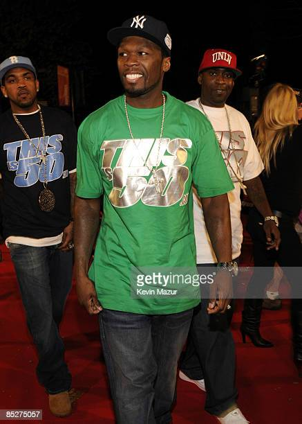 Rapper 50 Cent arrives at the MTV Australia Awards 2008 at the Australian Technology Park Redfern on April 26 2008 in Sydney Australia This year's...