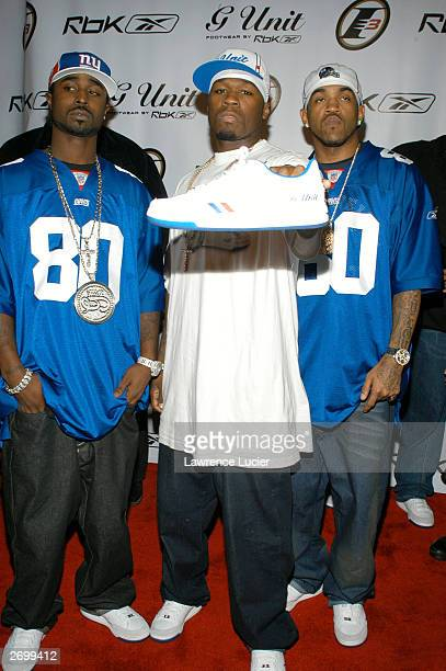 Rapper 50 Cent arrives November 4 at his and Reebok's launch party for Answer 7 and G6 footwear at Capitale in New York City