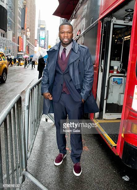 Rapper 50 Cent arrives to hand out tickets to the New York premiere of 'Power' TV series on June 2 2015 in New York City