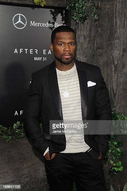 Rapper 50 Cent attends Columbia Pictures and MercedesBenz Present the US Red Carpet Premiere of AFTER EARTH at Ziegfeld Theatre on May 29 2013 in New...