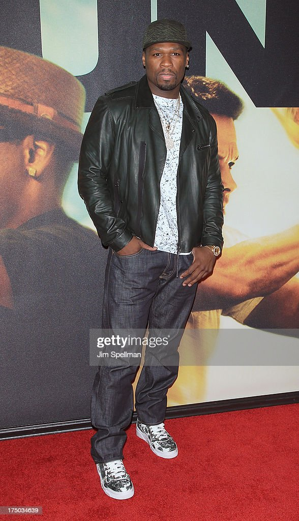 Rapper 50 Cent attends the '2 Guns' New York Premiere at SVA Theater on July 29, 2013 in New York City.