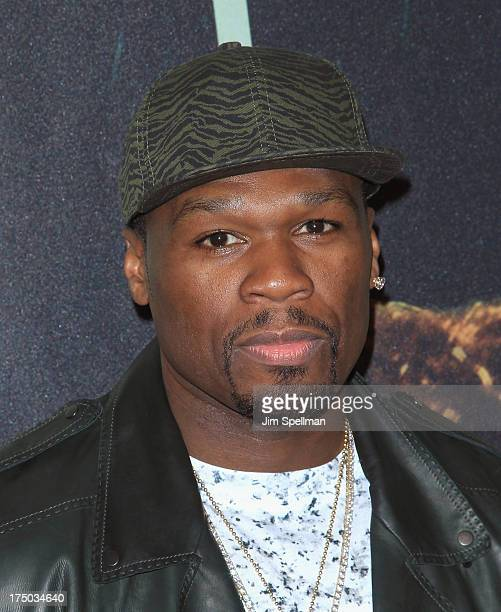 Rapper 50 Cent attends the '2 Guns' New York Premiere at SVA Theater on July 29 2013 in New York City