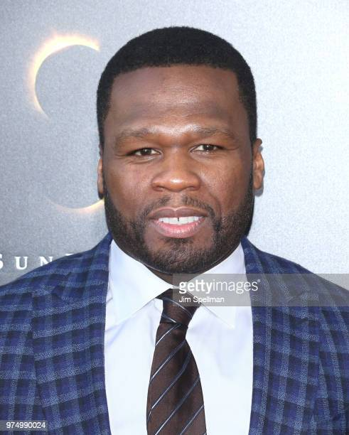 Rapper 50 Cent attends the 'Gotti' New York premiere at SVA Theater on June 14 2018 in New York City