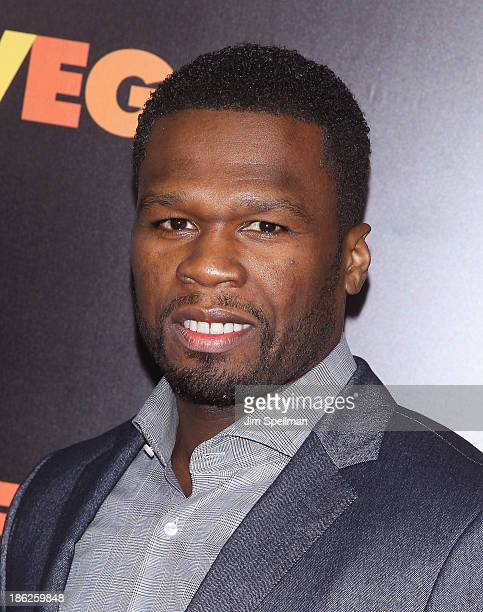 """Rapper 50 Cent attends the """"Last Vegas"""" premiere at the Ziegfeld Theater on October 29, 2013 in New York City."""
