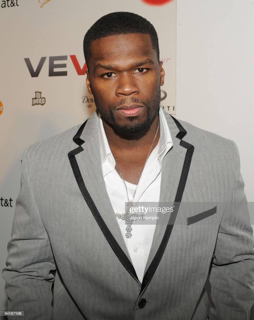 Rapper 50 Cent attends the launch of VEVO, a music-video website, at Skylight Studio on December 8, 2009 in New York City.