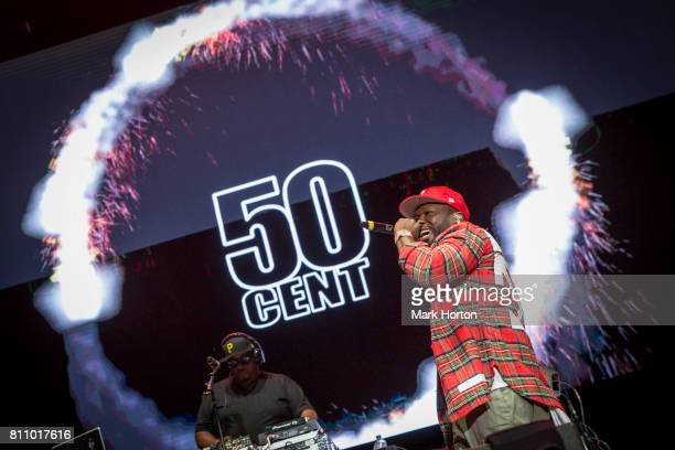 Rapper 50 Cent performs on Day 3 of the RBC Bluesfest on July 8 2017 in Ottawa Canada
