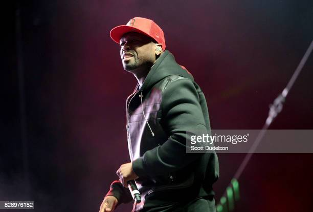 Rapper 50 Cent performs onstage during the Summertime in the LBC festival on August 5, 2017 in Long Beach, California.