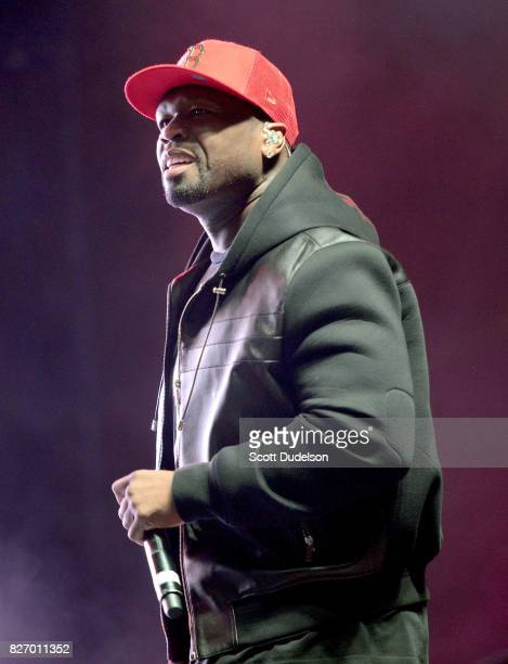 Rapper 50 Cent performs onstage during the Summertime in the LBC festival on August 5 2017 in Long Beach California