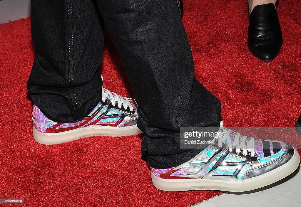 Rapper 50 Cent, sneakers detail, attends the HBO Latino red