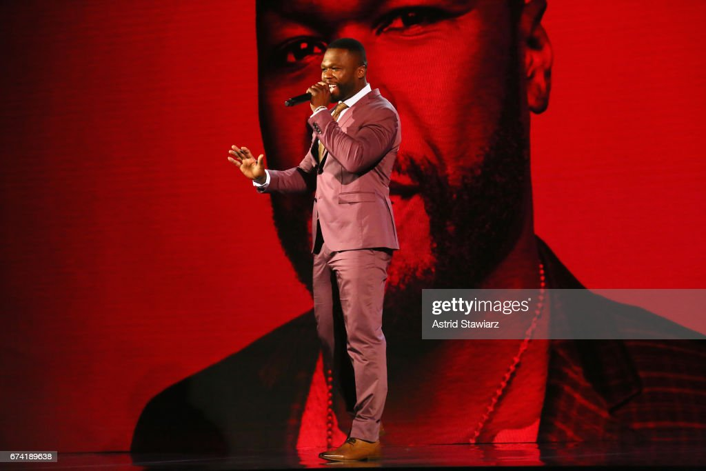 Rapper 50 Cent speaks onstage during the 2017 BET Upfront NY at PlayStation Theater on April 27, 2017 in New York City.